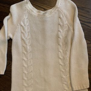 Cynthia Rowley cable knit cream sweater